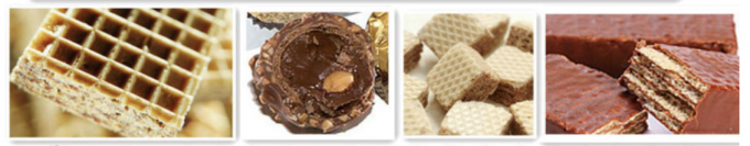 Fully Automatic Shape Cream (Chocolate) Filled Wafer Biscuit Production Line with Easy Operation