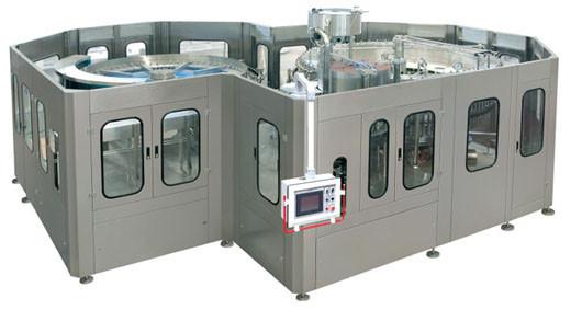 Automatic Fruit Juice Filling Machine Fruit Beverage  Monoblock Small Glass Bottle