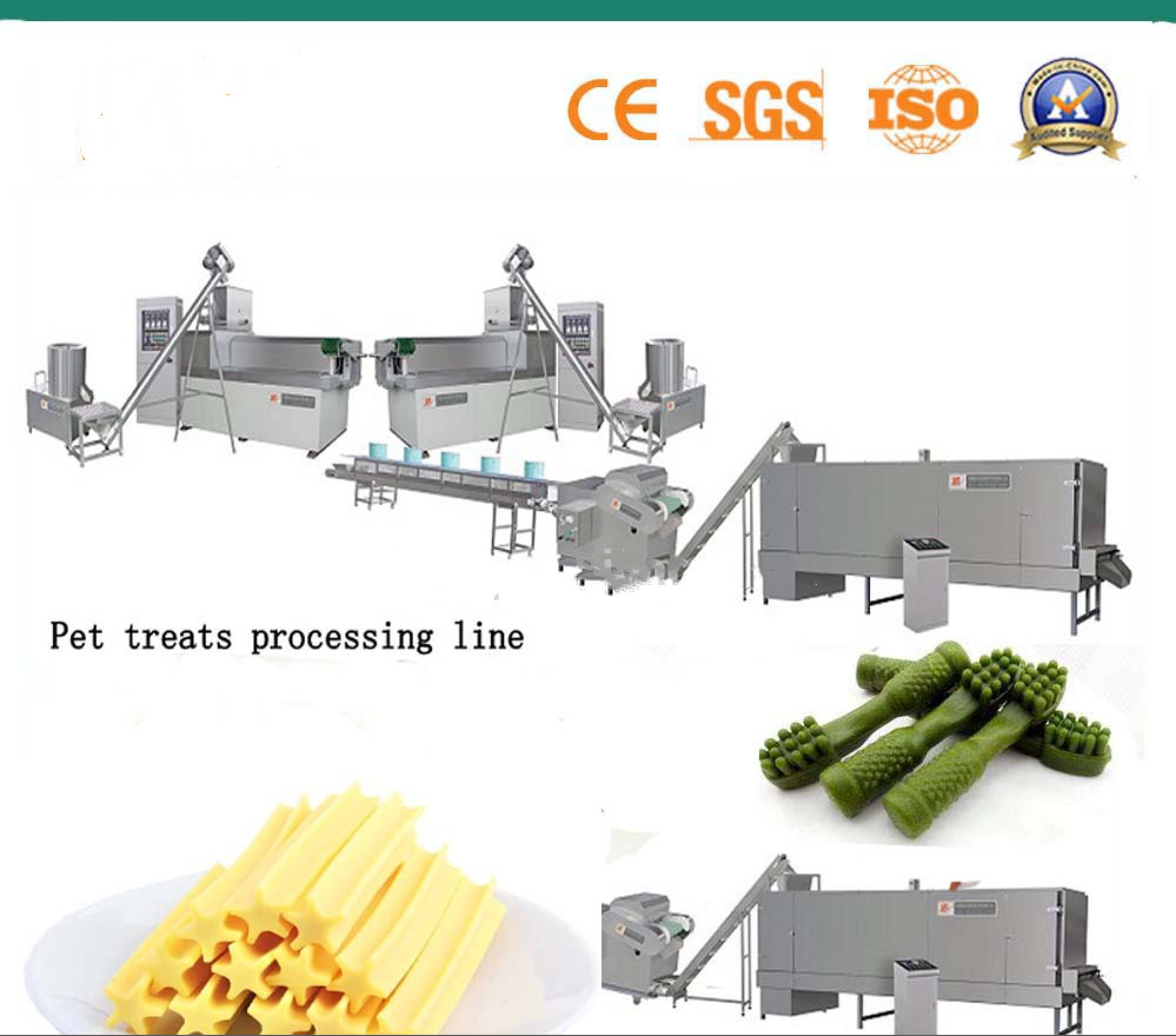 Commercial Automatic Biscuit Making Plant Stick And Bone Shape With Starch