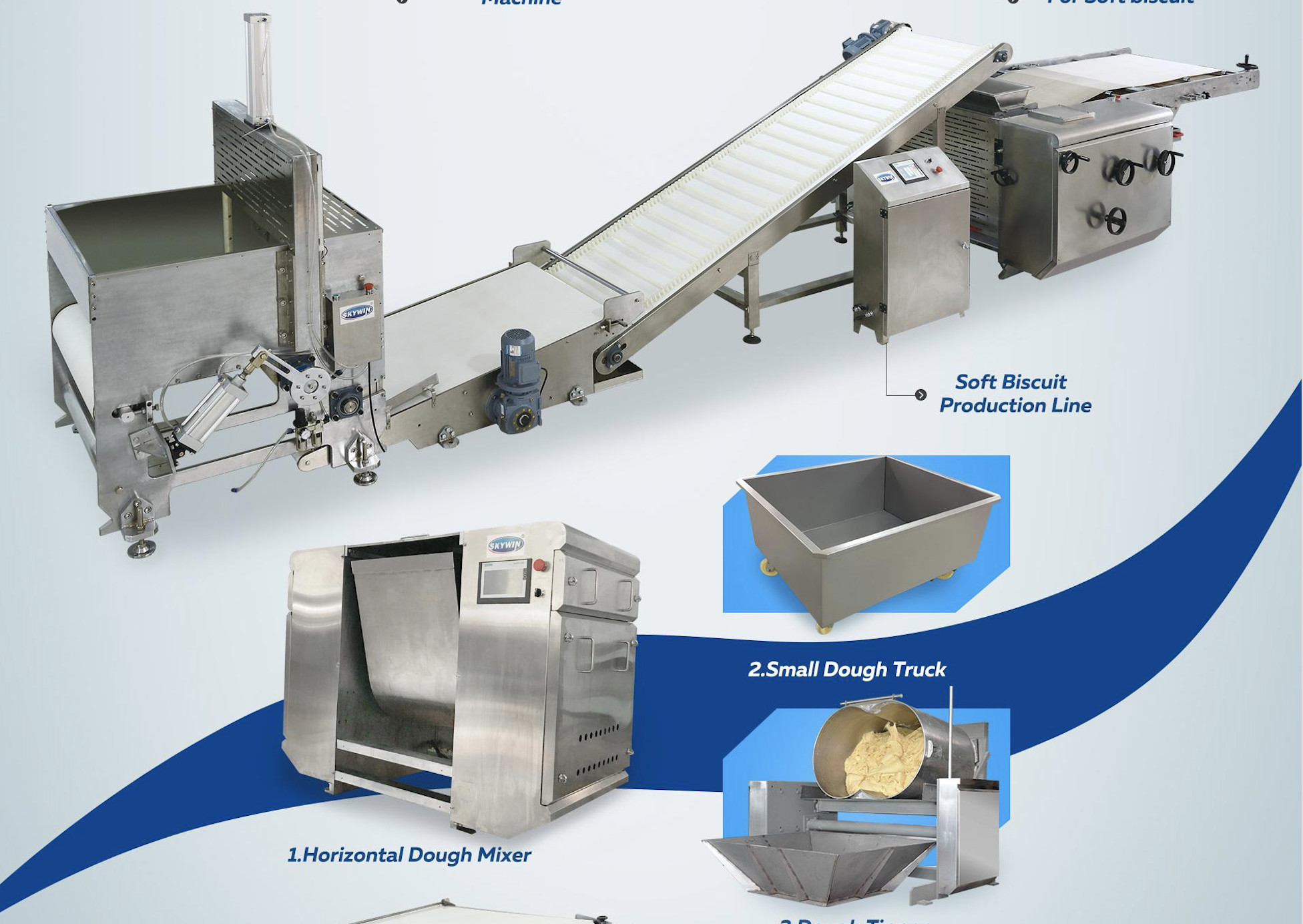 Industrial Biscuit Making Machine 20 – 100 Pcs / Min Full Automatic Multi Function