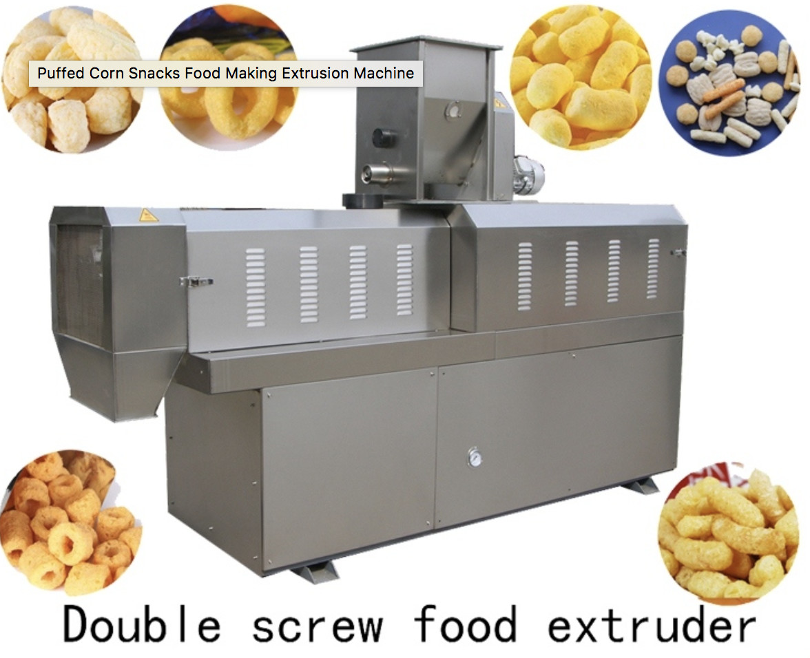 Puffed Chocolate Filling Snack Food Production Line With Self Cleaning System