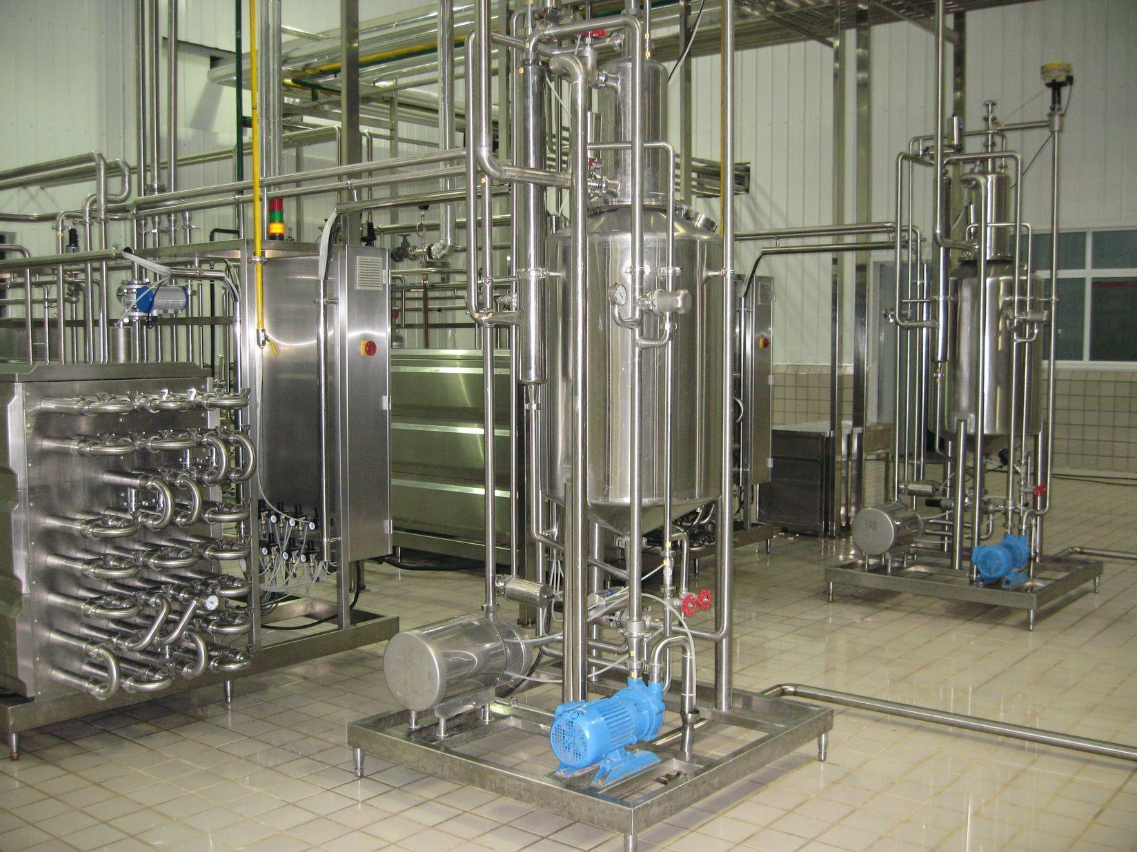 10000 LPH Automatic UHT Milk Production Line , UHT Milk Processing Plant For Ice Cream