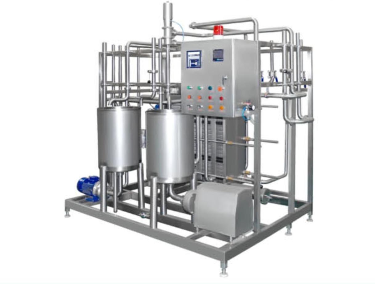 Automatic Pasteurized Milk Processing Line , Yogurt Production Line Equipment 6000-10000LPH