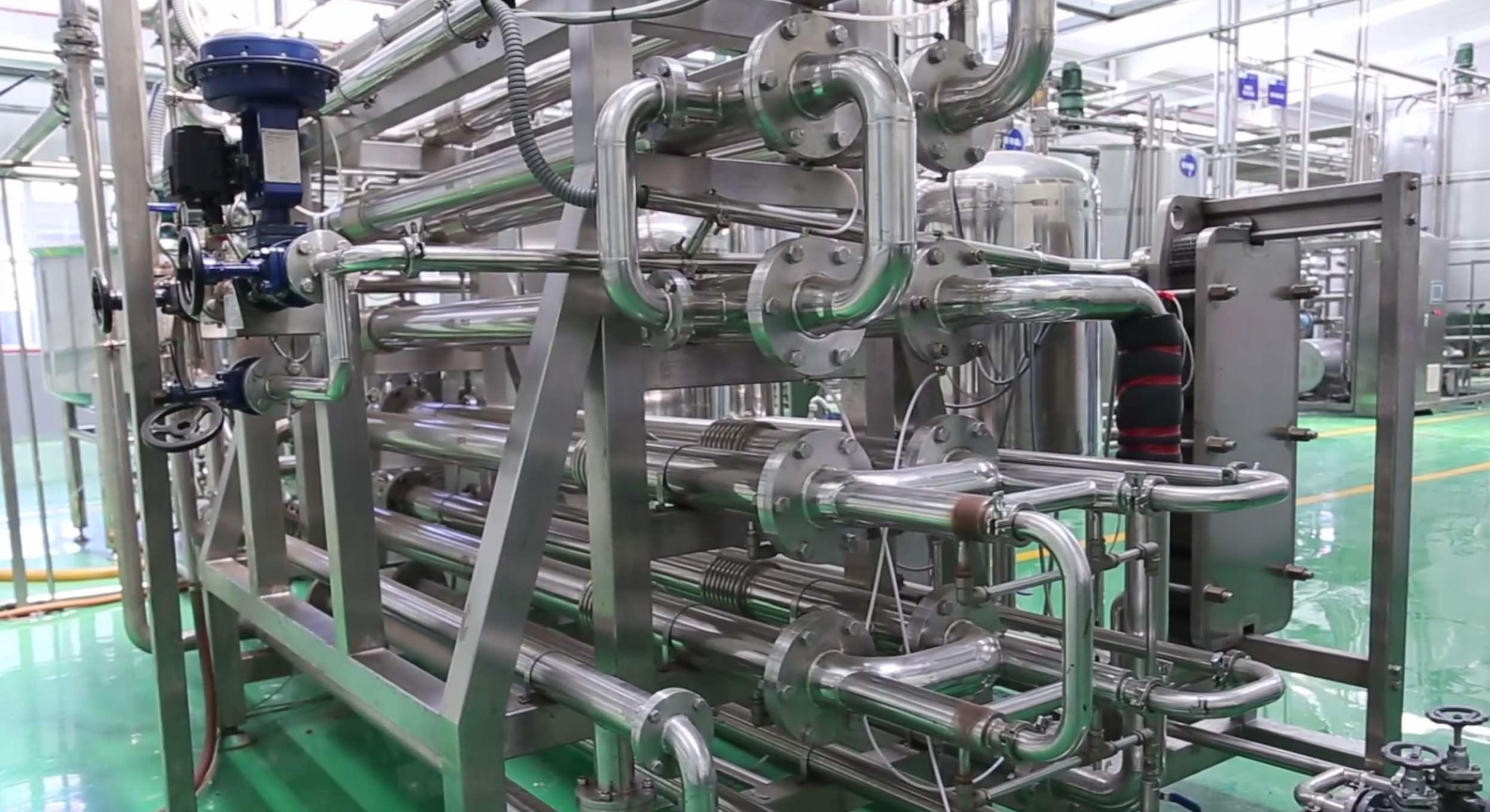 2 – 5 T / Hour Capacity UHT Milk Processing Line High Temperature Sterilization