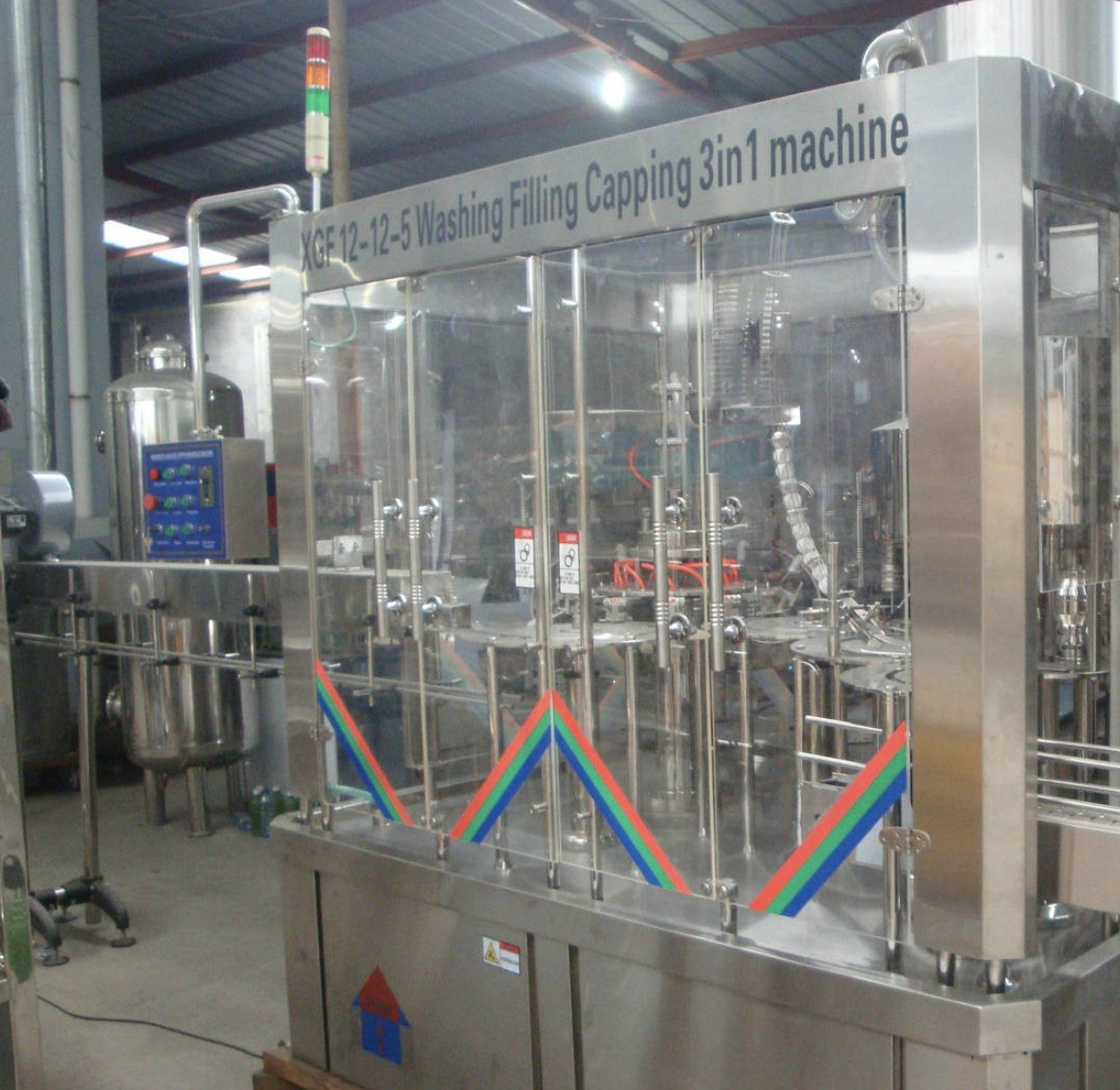 Full Automatic PET / Glass Bottle Production Line , Carbonated Beverage Filling Machine