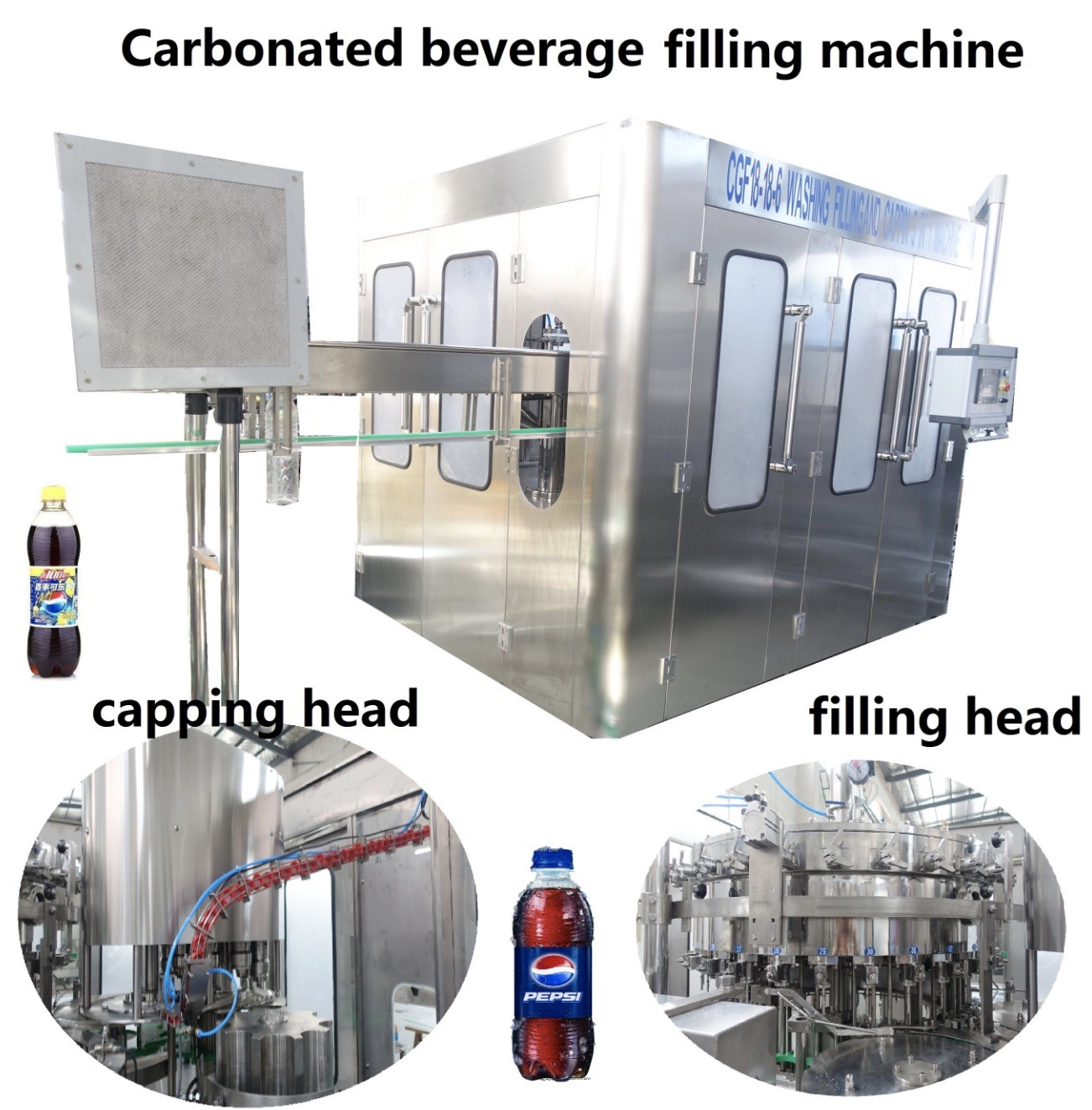 7000-12000 BPH Automatic Bottle Filling Machine / Complete Beverage Production Line