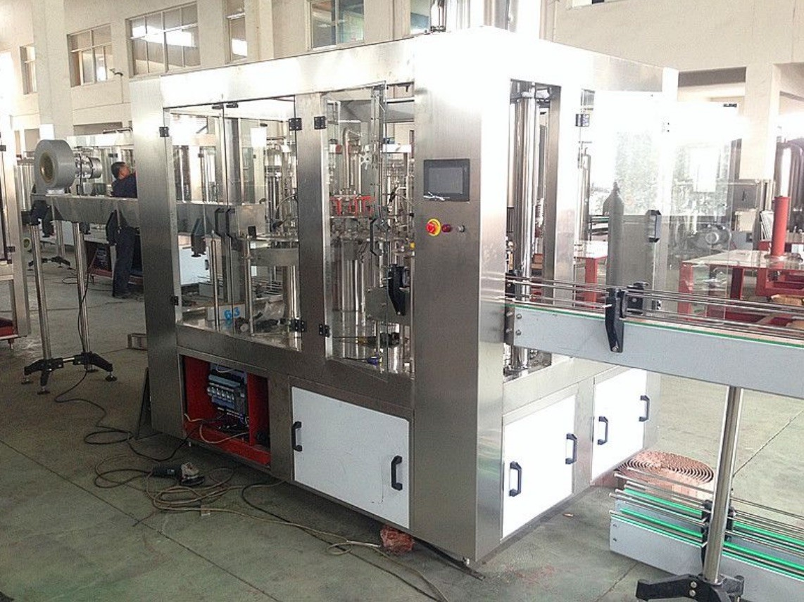 300 ML -1000 ML Hot Fill Bottling Equipment , Plastic Bottle Orange Juice Production Line