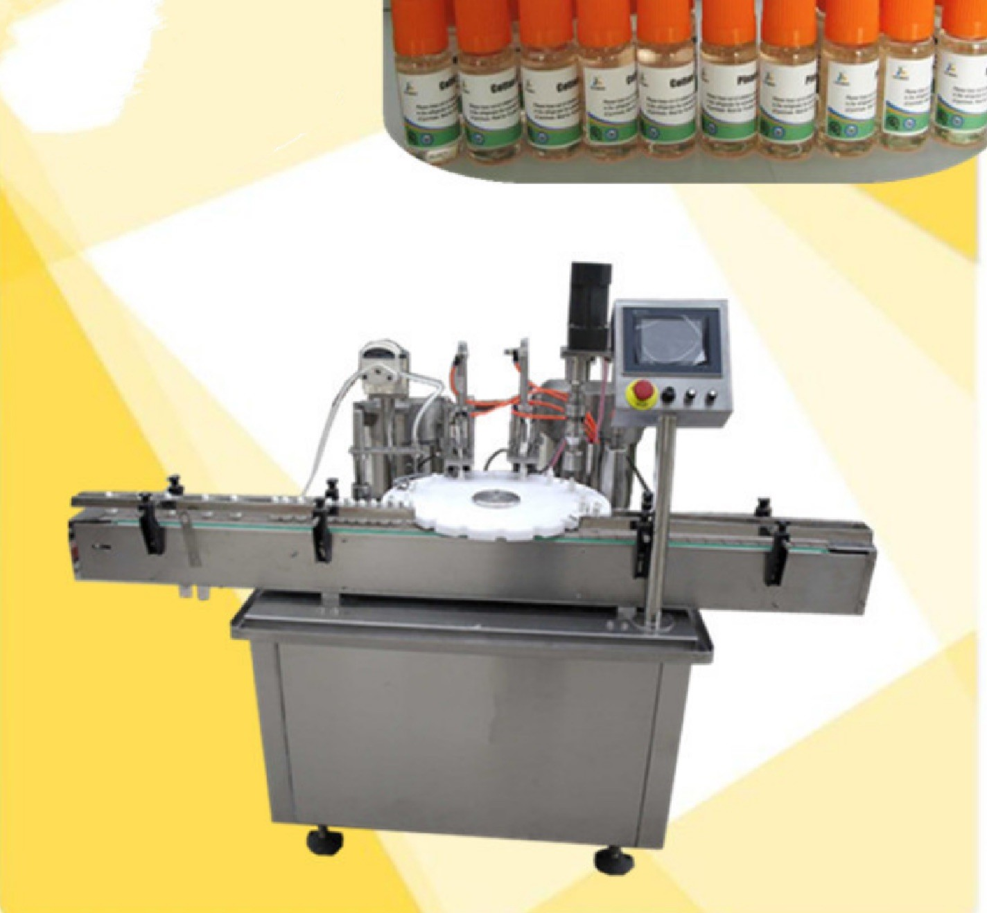 5ml 10ml 15ml 30ml Juice Bottle Filling Machine With Glass Bottle / Plastic Bottle