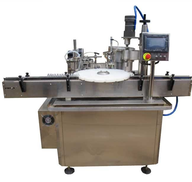 5ml 10ml 15ml 30ml Juice Bottle Filling Machine With Glass Bottle / Plastic Bottle