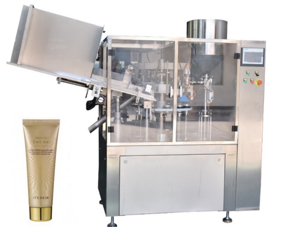 Small Capacity Cosmetic Filling Machine Plastic / Aluminum Tube Filling And Sealing Machine