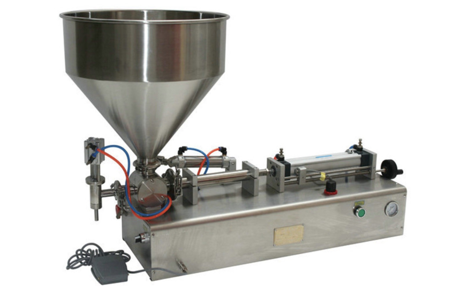 Semi Auto Cosmetic 5-100ml Single Head 30-60 BPM Shampoo Filling Machine