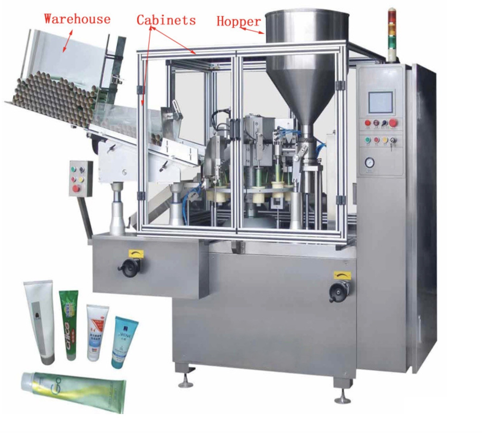 Stainless Steel Cosmetic Filling Machine / Automatic Lotion Filling Machine