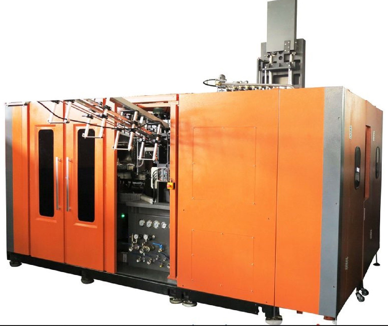 Single Stage One Step Extrusion Blow Molding Machine 4 Cavity 250 ml-2000 ml Round bottle