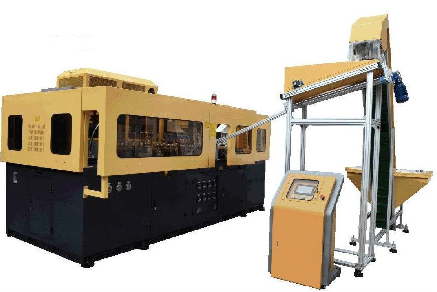 9 Cavities PET Bottle Blow Molding Machine 6000-25000 Bottle / Hour Linear High Capacity