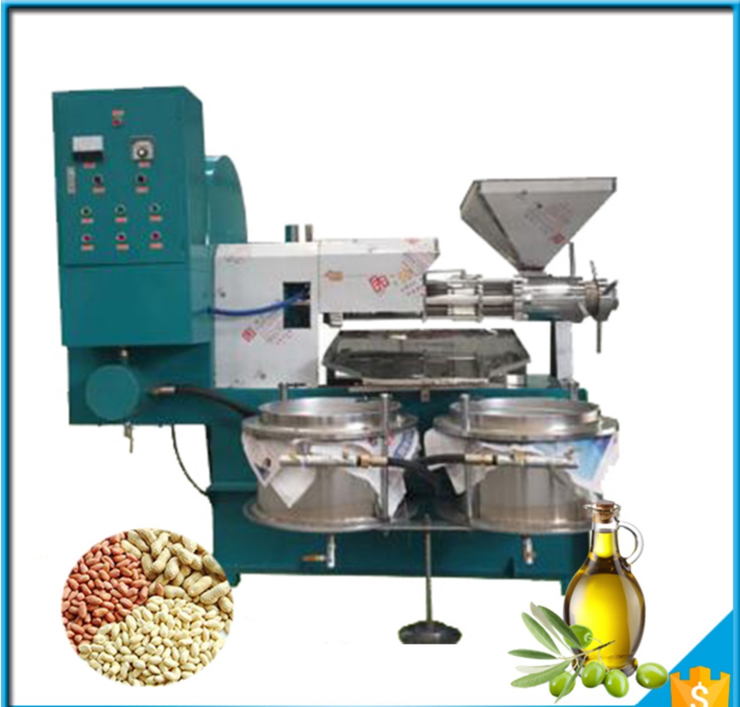 Stainless Steel Edible Oil Production Line Automatic Olive Oil Press Machine