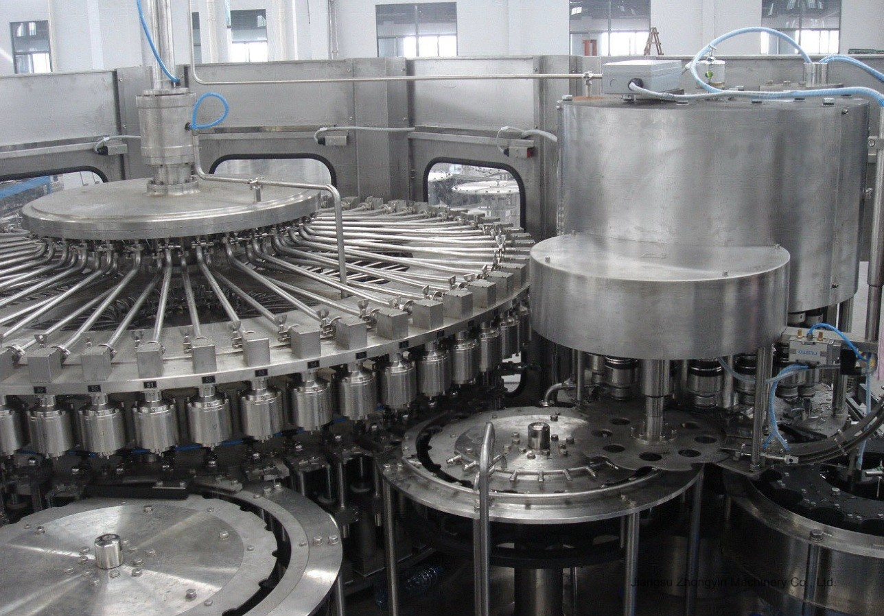 1000 BPH- 25000 BPH 3 In 1 Filling Machine , Automatic Fruit Juice Processing Machines