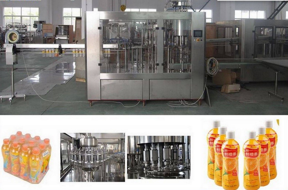 Stainless Steel Fresh Fruit Juice Production Line 8 – 40 Head 12000 BPH For Ice Cream