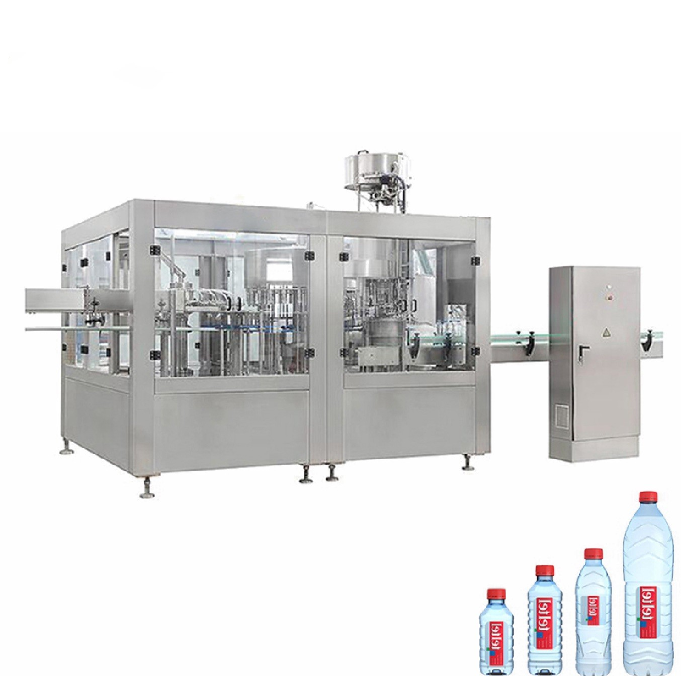 Round Square PET Bottle Filling Machine , 3000-6000 BPH Beverage Filling Equipment