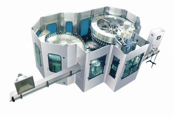 PLC Controlled Carbonated Drink Production Line / Carbonated Soda Filling Machine