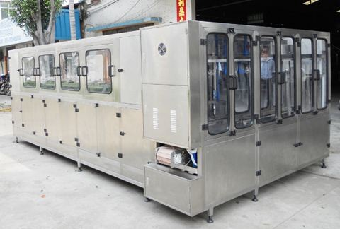 Industrial Bottled Water Production Machine , 3 / 5 Gallon Water Filling Production Line
