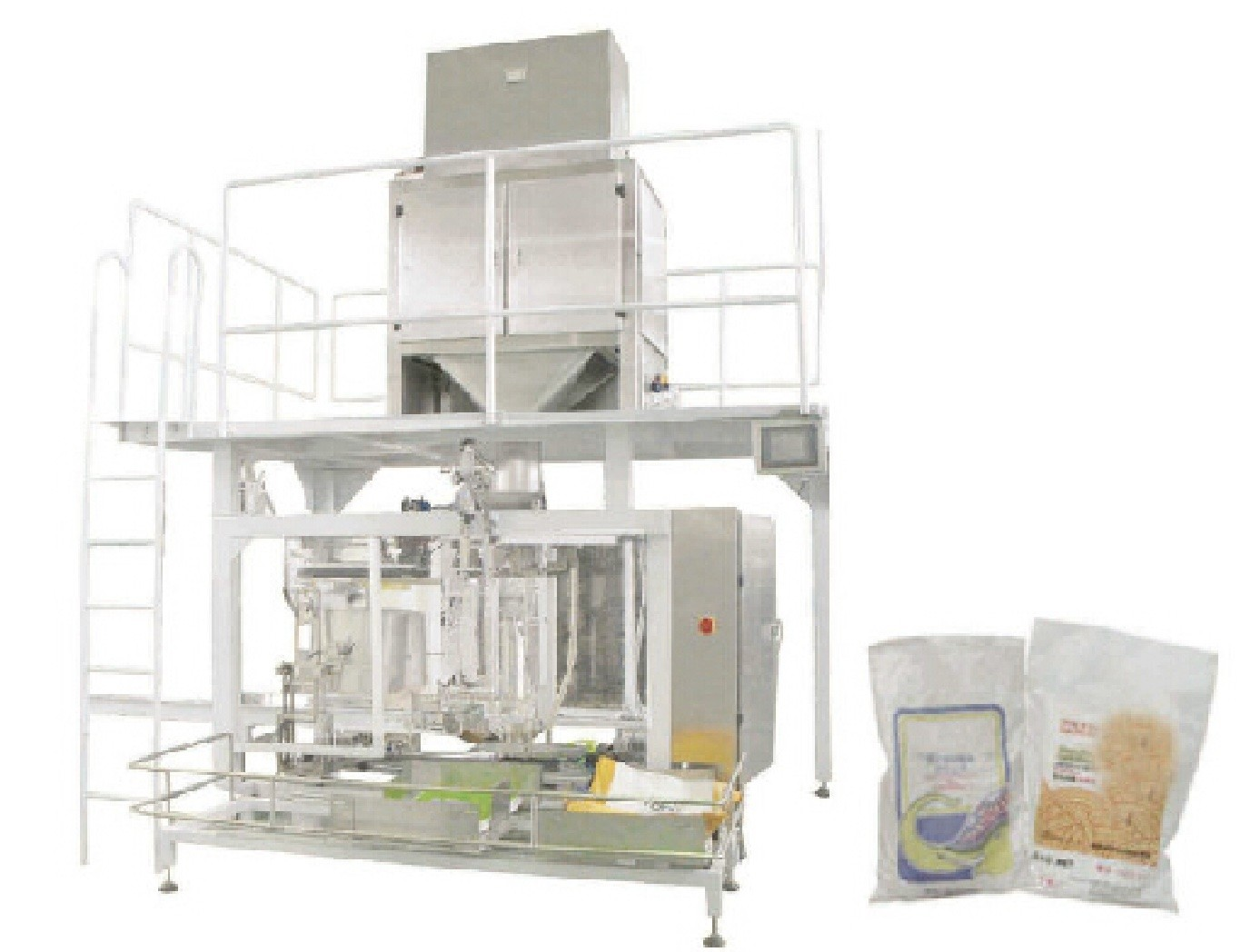 25kg / 50kg 600-900 BPH automatic woven bag fertilizer pellet packaging machine