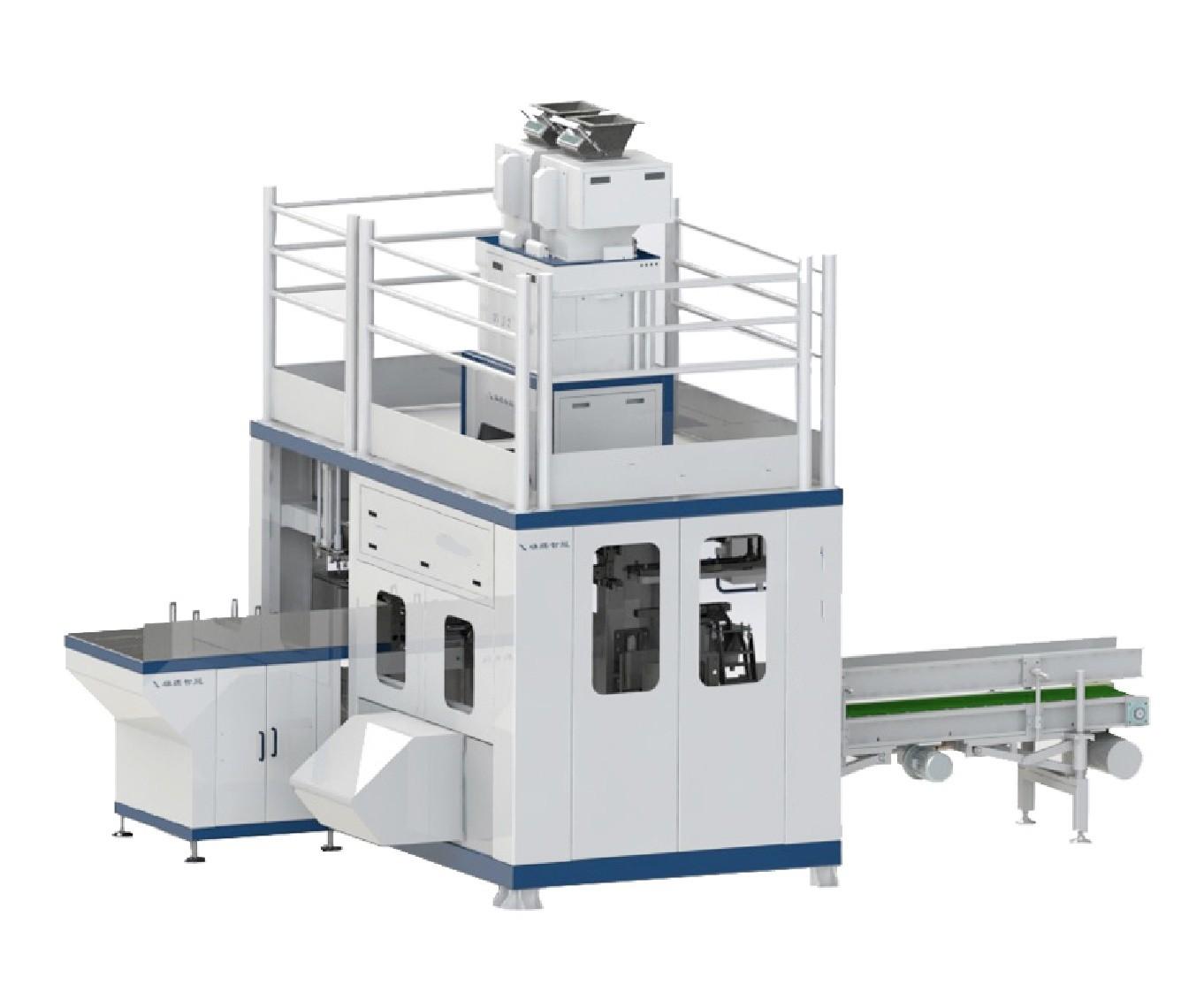 25kg / 50kg 600-900 BPH automatic woven bag fertilizer pellet packaging machine